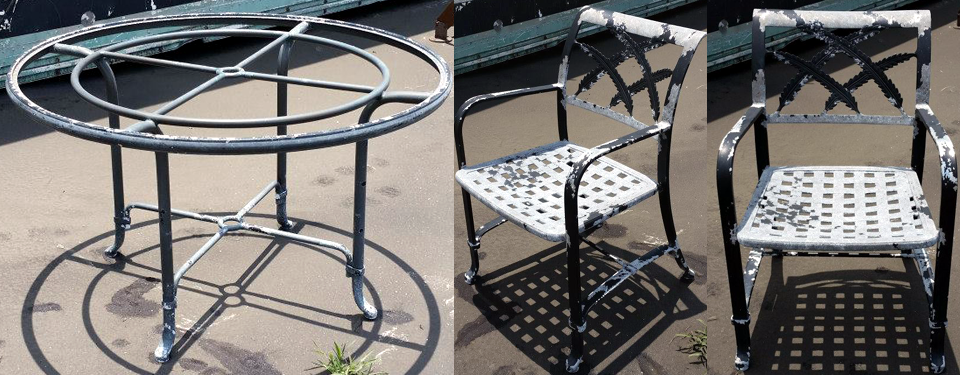 Restore Cast Aluminum Patio Furniture Finish Oval Wrought Iron Patio Table Images Wrought Iron